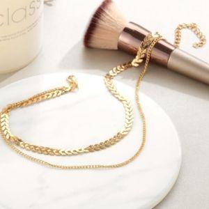 Jewelry - Double Layer Chevron Choker Necklace